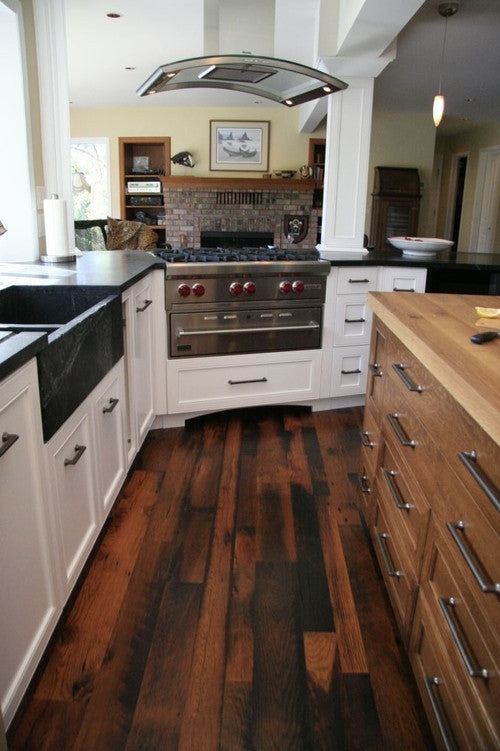 Reclaimed Oak Distressed Wide Plank Flooring Planetreuse