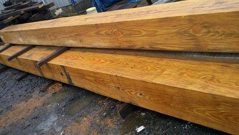 Resawn Reclaimed Heartpine Beams