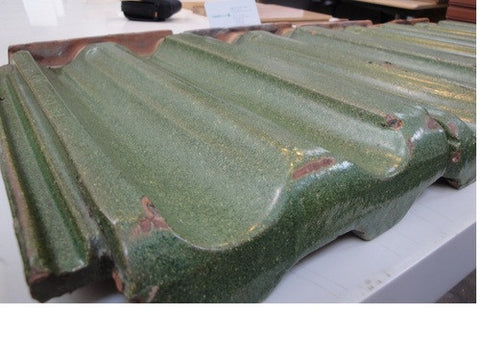 reclaimed Ludowici glazed roof tile