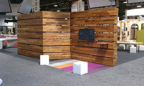 Reclaimed Flooring Wall System