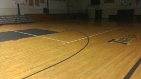 50+ year old maple gym flooring