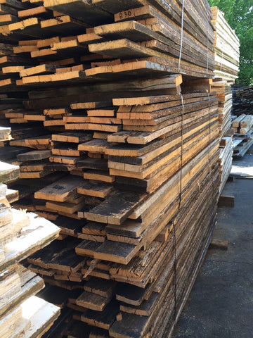 Reclaimed oak from thoroughbred horse farm fencing