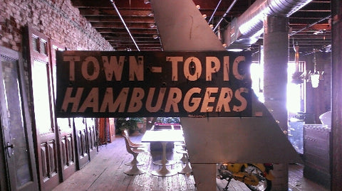 Vintage Town Topic Hamburgers Sign