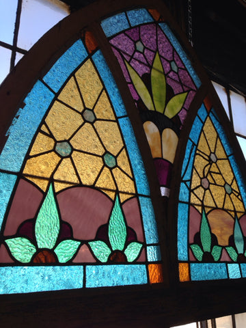 Gothic Arched Stained Glass Window