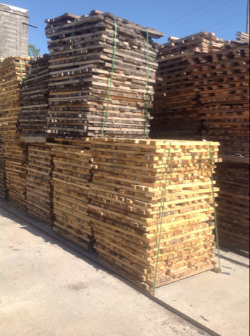 Pallet of untreated 2x2x4 wood