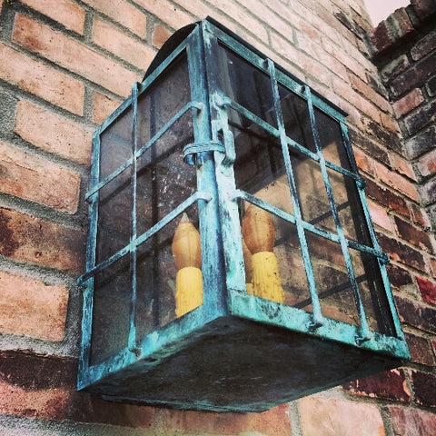 Exterior Wall Sconce with Beautiful Patina