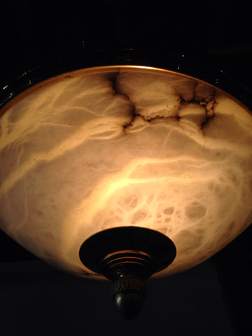 Alabaster Basin Light Chandelier