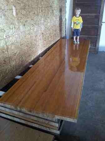Heart Pine Bowling Lane with Maple