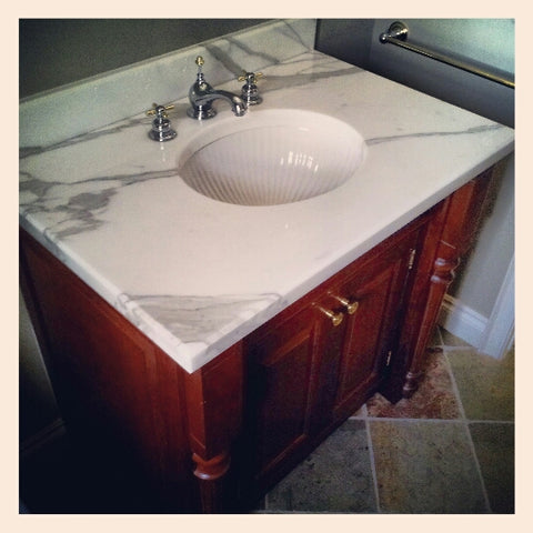 Beautiful Marble and Wood Vanity