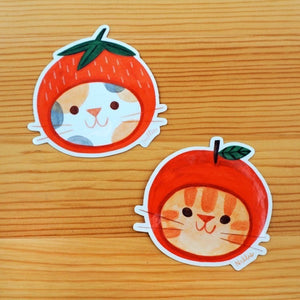 Fruit Hat Cat Sticker