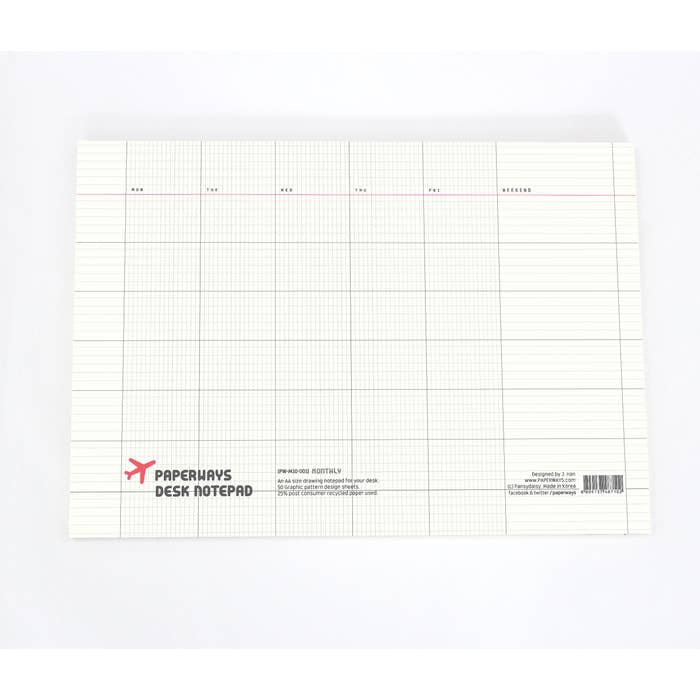 A4 Desk Pad - Monthly
