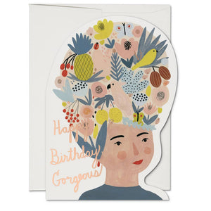 Fruit Hat Lady Birthday Card