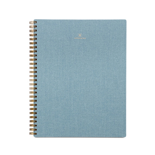 Lined Notebook - Chambray Blue