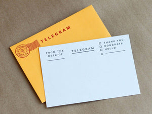 Telegram Stationery Set