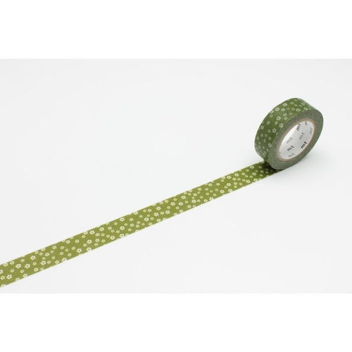Plum Blossom Washi Tape - Green/Brown