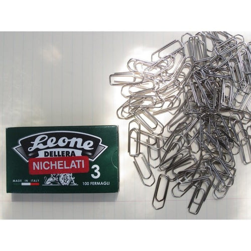 #3 Small Nickel Paperclips - 100pc Box