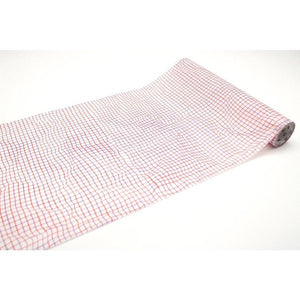 Wrinkled Grid Red - Large MT Wrap