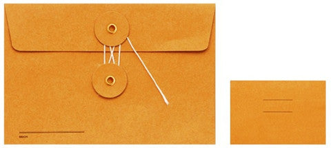 Pack of 8 Orange Kraft Envelope - Medium