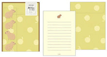 Load image into Gallery viewer, Midori Capybara Letter Set w/ Stickers