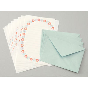 Flower Letterpress Letter Set