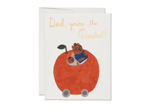 Orange Car Card