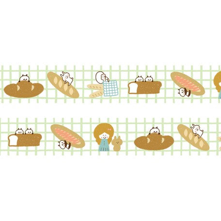 Mizutama Washi Tape - Bread Grid