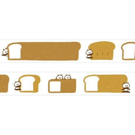 Mizutama Washi Tape - Bread and Panda