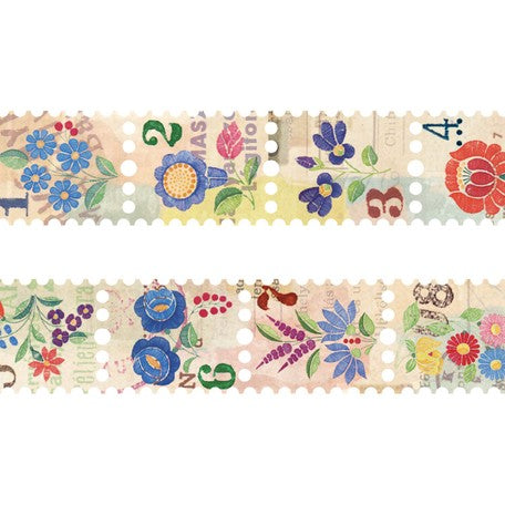 SunnySunday Washi Tape - Vintage Flower Postage