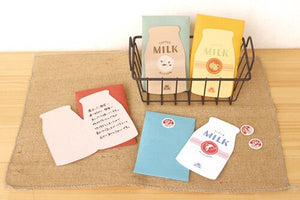 Strawberry Milk Bottle - Retro Mini Letter Set