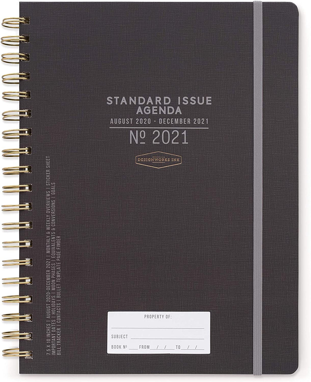 Black Standard Issue Planner (2020-2021) - Monthly