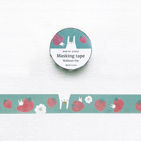 Hal-San Washi Tape - Strawberry Bunny