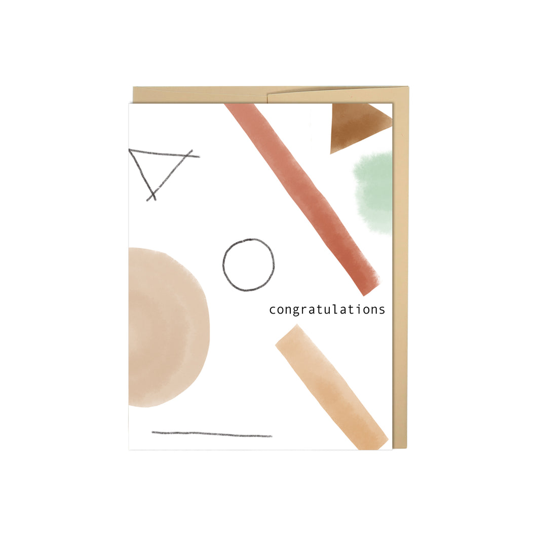 Abstract Shapes Congratulations Card