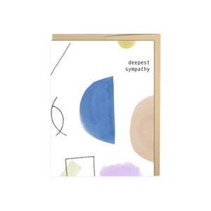 Deepest Sympathy Abstract Card