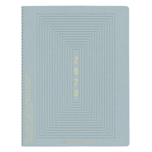 Light Blue Linear Boxes Planner - Monthly