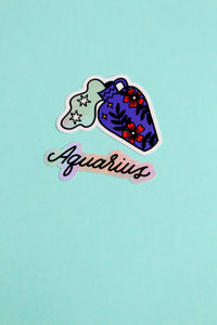 Horoscope Sticker Set - Aquarius