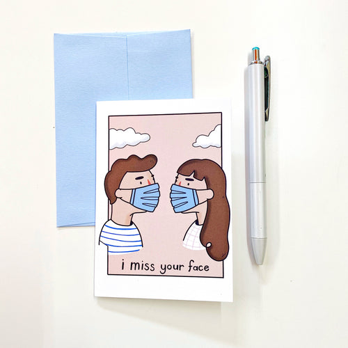 Miss Your Face Mini Cards  - Set of 6