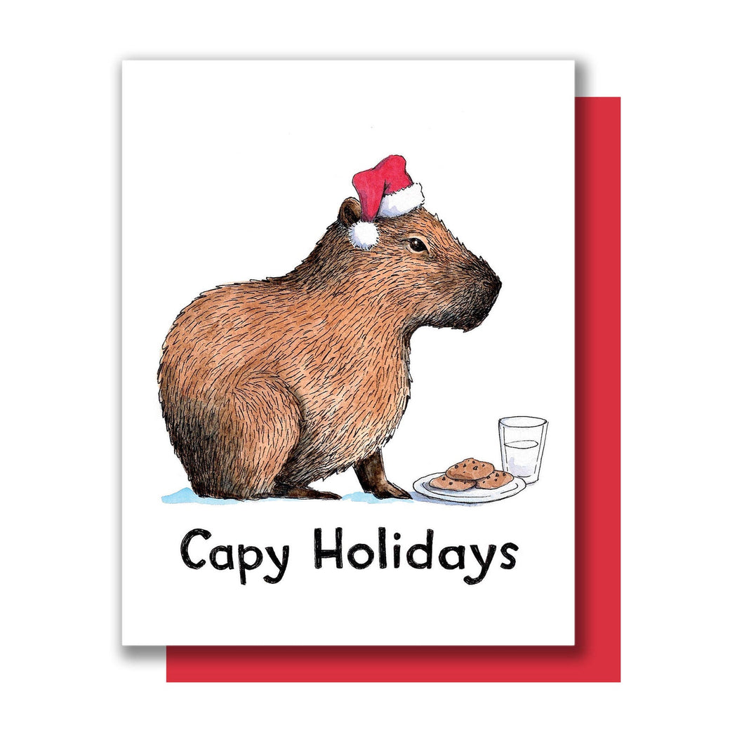 Capy Holidays Card