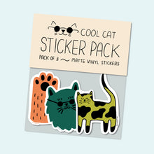 Load image into Gallery viewer, Cat Vinyl Sticker Pack