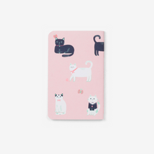 Load image into Gallery viewer, Cats Pink Pocket Notebook