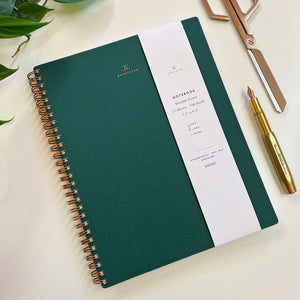 Lined Notebook - Hunter Green