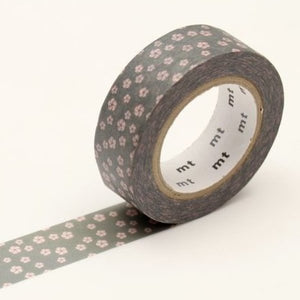 Plum Blossom Washi Tape - Gray/Pink