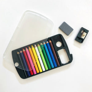 Mini Color Pencil with Eraser and Sharpener