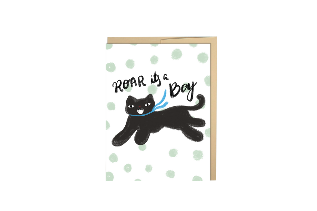 Roar Its A Boy Card