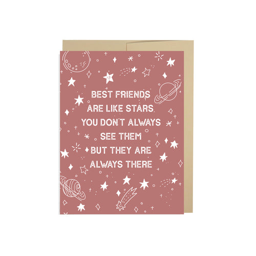 Best Friends Are Like Stars Card