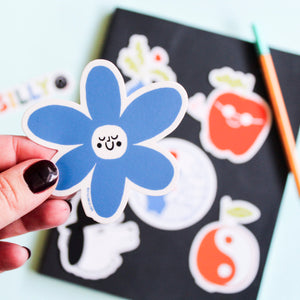 Happy Flower Vinyl Sticker