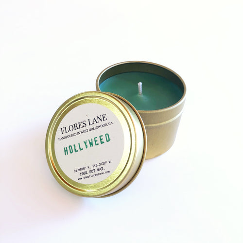 Hollyweed - Teakwood & Orange Travel Candle
