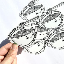 Load image into Gallery viewer, Motivated by Noods (noodle) Vinyl Sticker