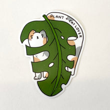 Load image into Gallery viewer, Cat + Plant Lover (White Cat) Vinyl Sticker
