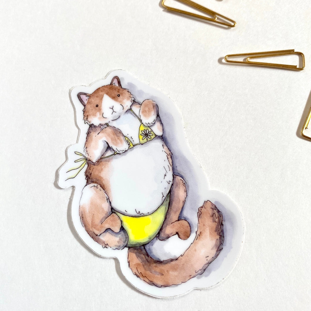 Cat Bikini Sticker