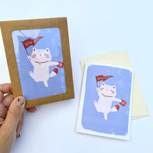 Load image into Gallery viewer, New Year Maneki Neko Mini Cards  - Set of 6